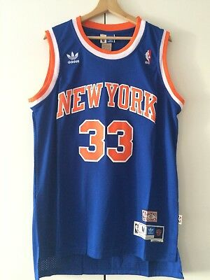 Canotta nba basket maglia Patrick Ewing jersey New York Knicks blue S/M/L/XL/XXL
