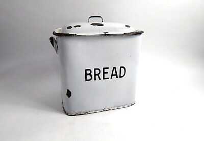 English Enamelled Vintage Bread Box c.1940-50