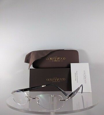 6c88935e602 Brand New Authentic Gold   Wood CM2N41 Rimless Eyeglasses Wood Silver N03.16