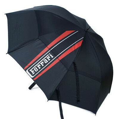 Ex Display Ferrari Golf Collection Double Canopy Golf Umbrella- Black/Red/Silver