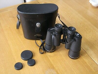 ASAHI PENTAX 12x50 FIELD 5.5 BINOCULARS + CASE - MODEL 565. EXCELLENT CONDITION