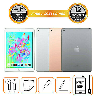 "Apple iPad 6th Generation 2018 9.7"" 32GB 128GB Wi-Fi Unlocked All Colours"