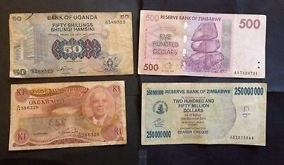 Africa 4 different banknotes
