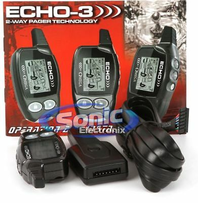 Omega ECHO-3 2-Way LCD Remote Transmitter Pager with Transceiver Antenna