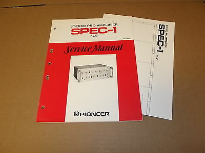 Pioneer SPEC-1 Stereo Pre Amplifier preamp Original Service Manual JAPAN