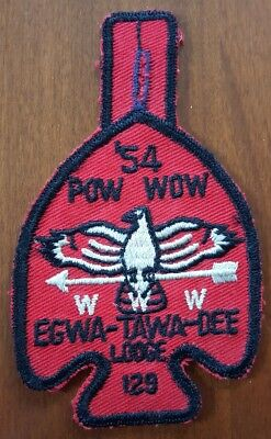 1954 Pow Wow EGWA-TAWA-DEE  Lodge 129 Boy Scout ORDER of the ARROW Patch ATLANTA