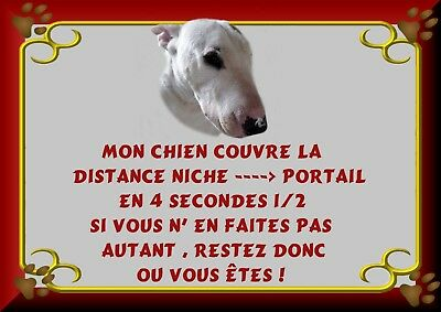Pancarte Attention Chien Plastifiee Bull Terrier 2