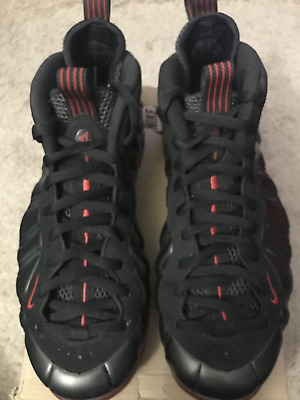 15ea23ed9c5 NIKE AIR FOAMPOSITE One Black red Cough Drop Bred Authentic Ds 2010 ...