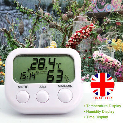 Digital LCD Humidity Hygrometer Temperature Thermometer Greenhouse Outdoor UK D