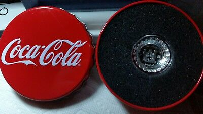 2018 Coca-Cola Silver Proof $1 coin Shaped like Bottle Cap in OGP