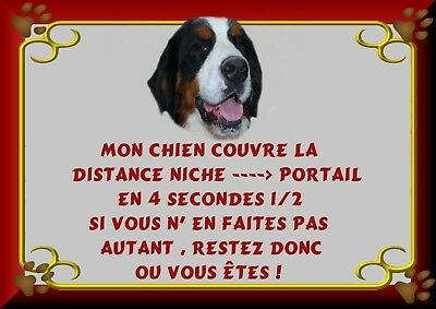 Pancarte Attention Chien Plastifiee Saint Bernard 2