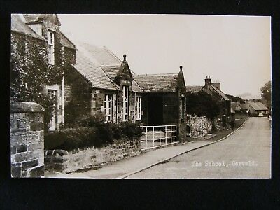Vintage The School Garvald East Lothian Rp Postcard Haddington Postmark