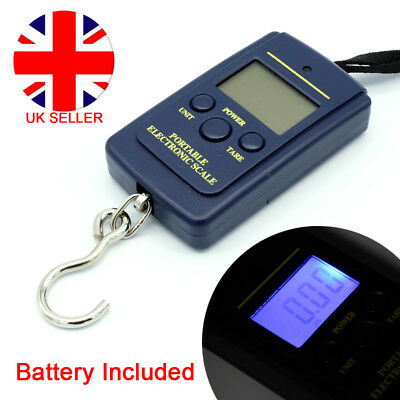 Portable Digital Weighing Hanging Suitcase Luggage Scale Fish Hook Meat Weight D