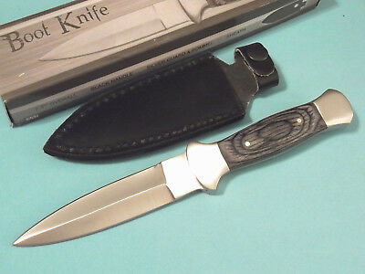 "Boot Knife 203403 Black wood dagger full tang blade knife 7 1/2"" overall NEW!"