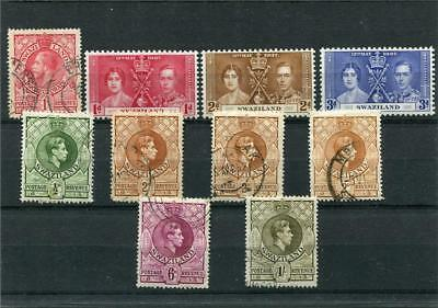 Swaziland. 10 -- G5/g6 Umm/used Stamps On Stockcard