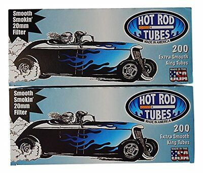 1x Box Hot Rod Extra Smooth KING SIZE  ( 200 Tubes )  Cigarette Tube Tobacco