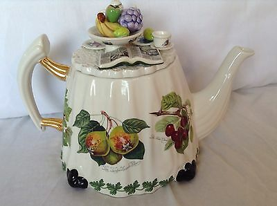 Portmeirion Collectable Novelty Large Fruit Table Country Teapot Lovely Conditio