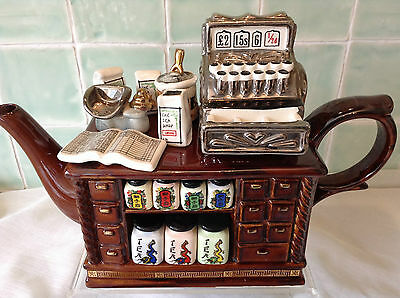 Cardew Lge Collectable Novelty Teapot Chinese Tea Counter Lovely Condtion Unused