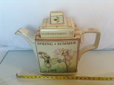 Queens Cicely Mary Baker Flower Fairies Book Stack Collectable Novelty Teapot