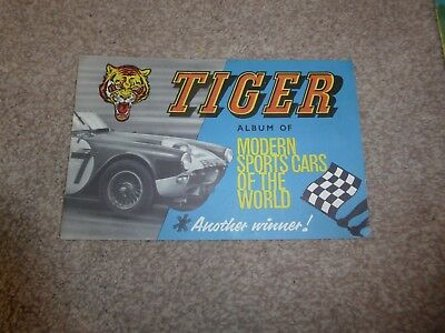 TIGER album of modern sportscars of the world presented with Tiger comic 1960's