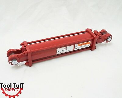 """Tie Rod Cylinder, Hydraulic, Double Acting, 3"""" Bore, 12"""" Stroke, 1/2"""" NPT, 2500#"""