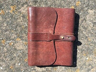 Vintage Col. Littleton No. 9 leather bound writing journal diary NICE! NR
