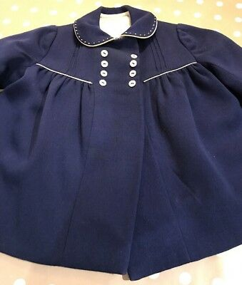 SERIOUSLY VINTAGE 1940s COAT Girls HAND FINISHED BY ROB ROY! 18/24months!