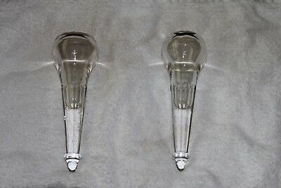 Matched pair of Antique Car Vase (s) Hearse Vases?  Beautiful