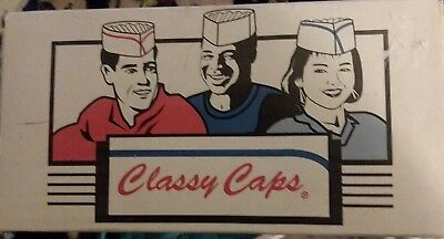 Adjustable white Disposable Beanie Chef's Caps, hats Package of 100