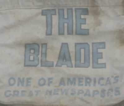 70s Vintage Toledo Blade Newspaper Paper Boy Delivery Bag ONE OF AMERICA'S GREAT