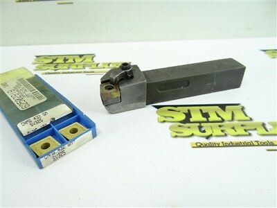 """Precision Indexable Tool Holder 3/4"""" Shank Mcgnr-124B + 2 New Carbide Inserts"""