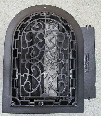 Antique 19thC Arch Top Dome Heat Grate Wall Register Architectural Salvage 2 yqz