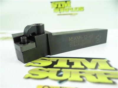 """Nice! Seco Indexable Tool Holder 3/4"""" Shank Msknr-12-4B Made In Usa"""