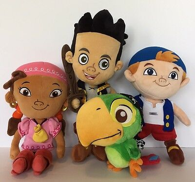 Disney Jake and the Neverland Pirates Plush Jake Cubby Izzy Skully Stuffed Toy