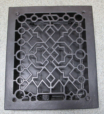 Antique 19thC Arts & Crafts Heat Grate Wall Register Architectural Salvage 3 yqz