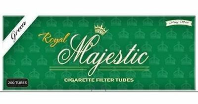 1x Box Royal Majestic Menthol KING SIZE Green ( 200 Tubes ) Cigarette Tube