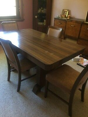Antique Art Deco Dining Table & Chairs