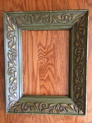 """Vintage Wood Frame Ornate Detailed Distressed 18"""" X 14"""" Shabby Chic Feel"""