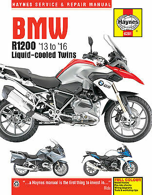6281 Haynes BMW R1200 dohc liquid-cooled Twins (2013 - 2016) Workshop Manual