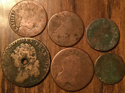 France Lot Of 6 Various Coins