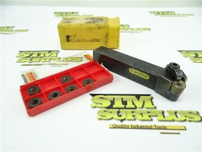 """Kennametal Indexable Round Nose Tool Holder 3/4"""" Shank Mrgnl-124B + Inserts"""