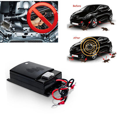 Ultrasonic Vehicle Pest Mice Rodents Repeller With low battery LED Light &Switch