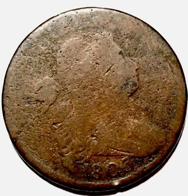 RARE 1803 DRAPED BUST LARGE CENT - SEE PICTURE - 3.1 million mintage