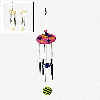 12 Paint Your Own Wooden Wind Chimes | Wooden Shapes for Crafts