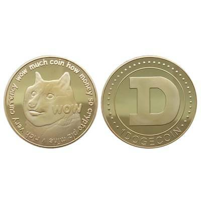 2018 Dogecoin(DOGE) CryptoCoin Gold Plated collectible Commemorative Free Ship