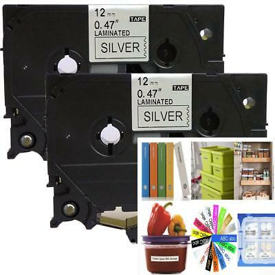 2PK Black on Silver Label Tape Compatible for Brother TZ TZe 931 TZ-931...
