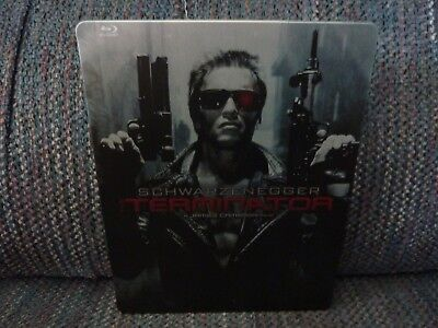 THE TERMINATOR (1984) REGION FREE Blu-Ray + RARE STEELBOOOK CASE - THE ORIGINAL