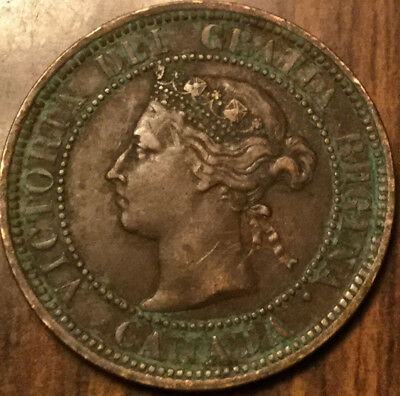 1888 CANADA LARGE 1 CENT PENNY - A great example !