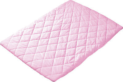 Quilted Travel Cot Sheet Pink or Blue or Cream or Charcoal- HIGH QUALITY..>>}.