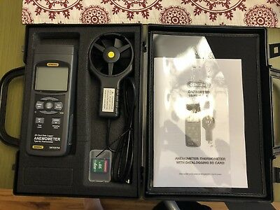 "General Tools DAF4207SD, Anemometer-Thermometer with ""K/J"" Port"